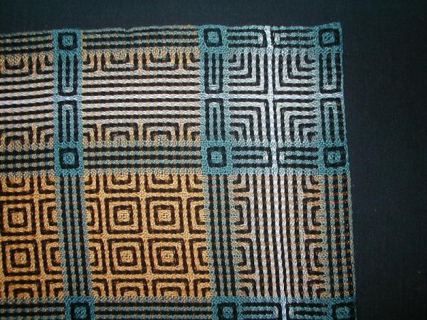 Table runner in 7colours detail